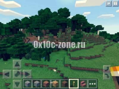 Сид с огромной пещерой для Minecraft PE 0.14.0