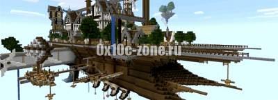 Парящий город для Minecraft PE 0.14.0