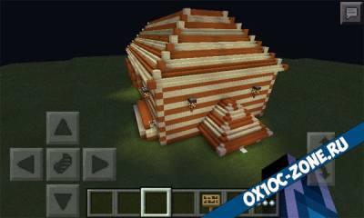 Домик от роао Minecraft pe 0.14.0