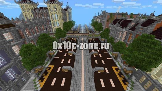 скачать карту город для майнкрафт пе 0.13.0 #2
